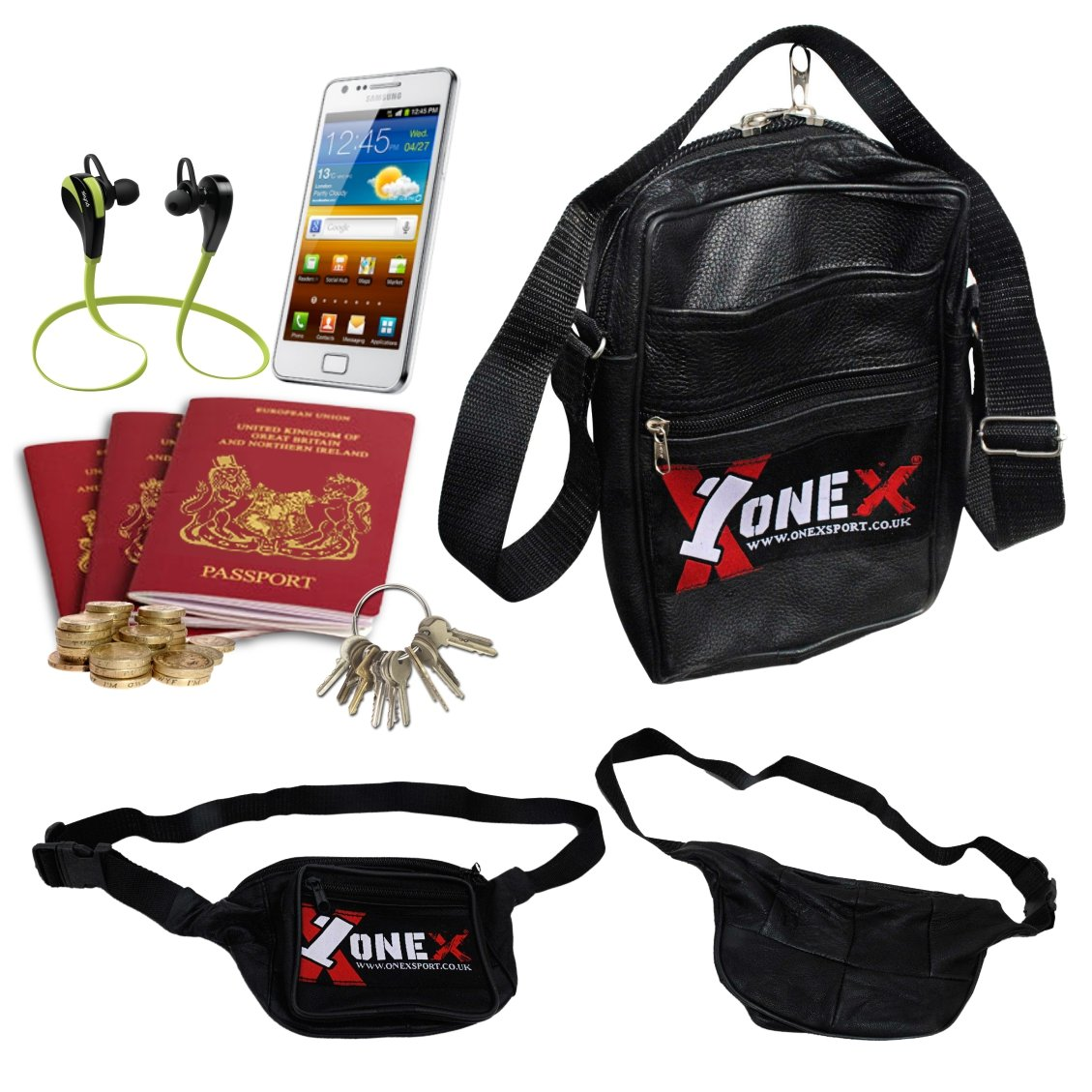 a6d63f5d0be Onex Black Canvas Bum bag