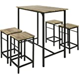 Sobuy Ogt11 N Set De 1 Table 4 Tabourets Ensemble Table De