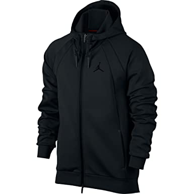 eb41091dc89 Jordan Nike Mens Flight Tech Fleece Full-Zip Hoodie - Black/Black (Small