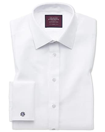 1a8eee15a6355f Extra Slim Fit Luxury Marcella Bib Front White Evening Egyptian Cotton  Formal Shirt Double Cuff Size 14.5/32 by Charles Tyrwhitt: Amazon.co.uk:  Clothing