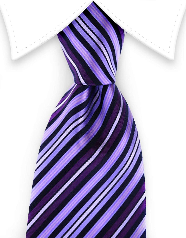 Gentleman Joe Purple /& Black Stripe Tie Multicolored