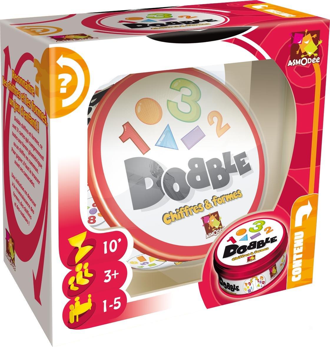 Asmodee Dobble Chiffres et Formes DOCF01N Jeux daction et de r/éflexe