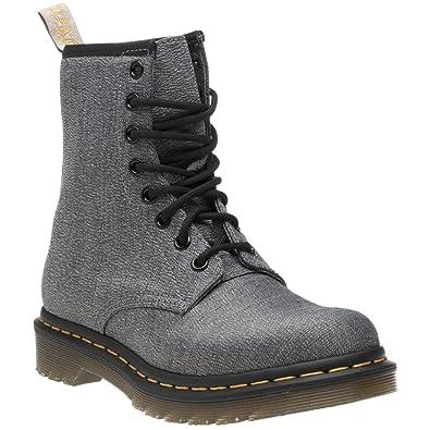 8a057402746 Dr. Martens Vegan Castel Femme Boots Gris  Amazon.fr  Chaussures et Sacs
