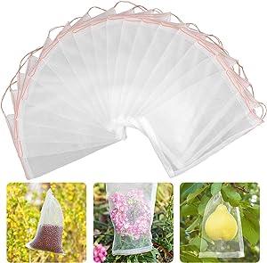 Blasoul Garden Fruit Protection Bags, 6x10 inch Garden Netting Bag Garden Plants and Fruit Cover Mesh Netting, Nylon Mesh Reusable Bird Netting Barrier Screen for Protecting Vegetable Flower (30 Pack)