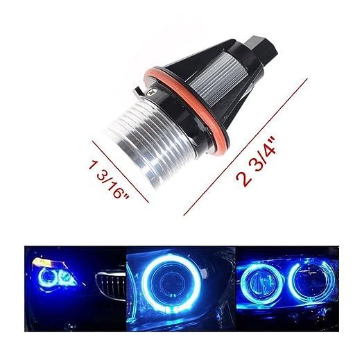 Bombillas alta potencia LED para faros delanteros, anillo de angel, 2 unidades, 7000 K Blanco: Amazon.es: Coche y moto