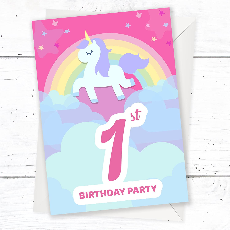 Olivia Samuel 1st Birthday Party Invitations