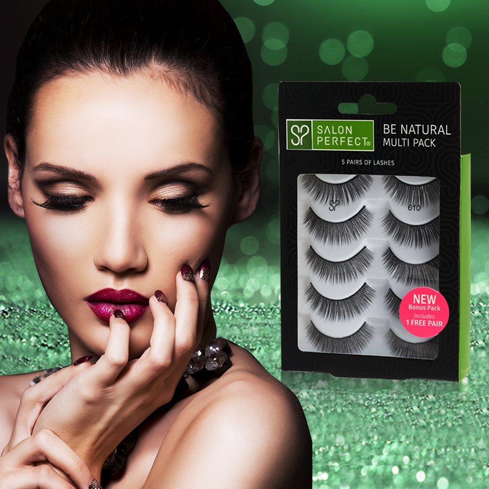 7fd29062905 Amazon.com : Salon Perfect 610 Handmade Fake Eyelashes Multipack (5 pairs),  4 pack : Beauty