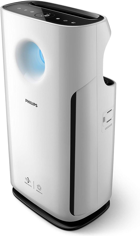 Philips - Purificador de aire (95 m², 393 m³/h, Negro, Blanco, De ...