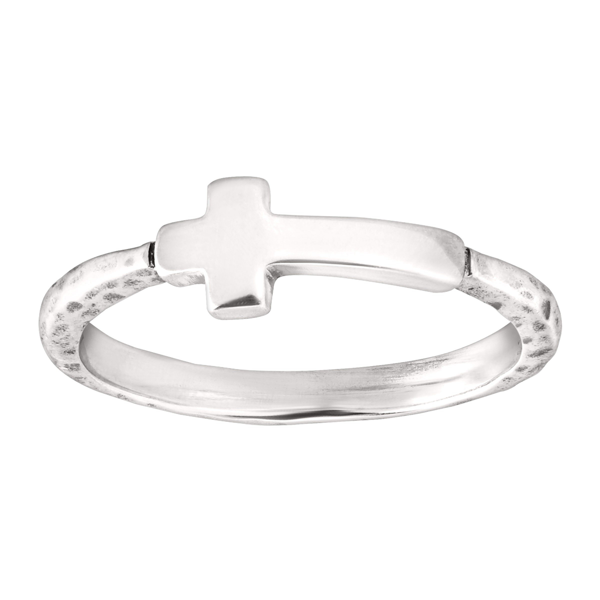 Silpada 'Simplex Cross' Sterling Silver Ring, Size 8