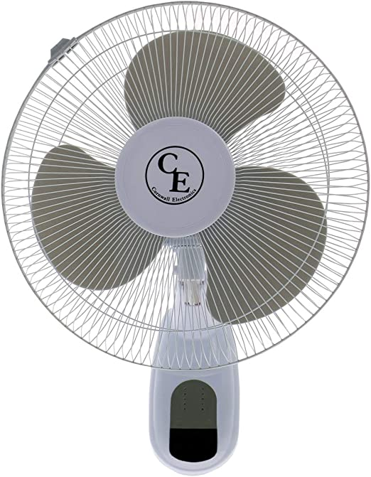 Ventilador / Circulador de aire mural + Mando Cornwall 40cm / 1900 ...