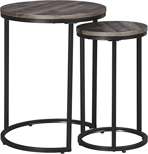Signature Design by Ashley – Briarsboro Accent Tables – Set of Two – Casual – Black Gray