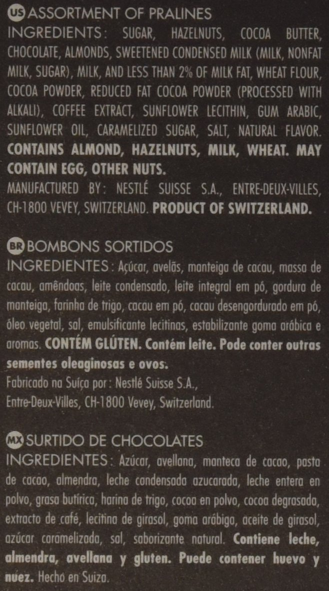 Amazon.com: CAILLER Chocolate Selection Assortment Box, Praline, 7.8 Ounce: Prime Pantry
