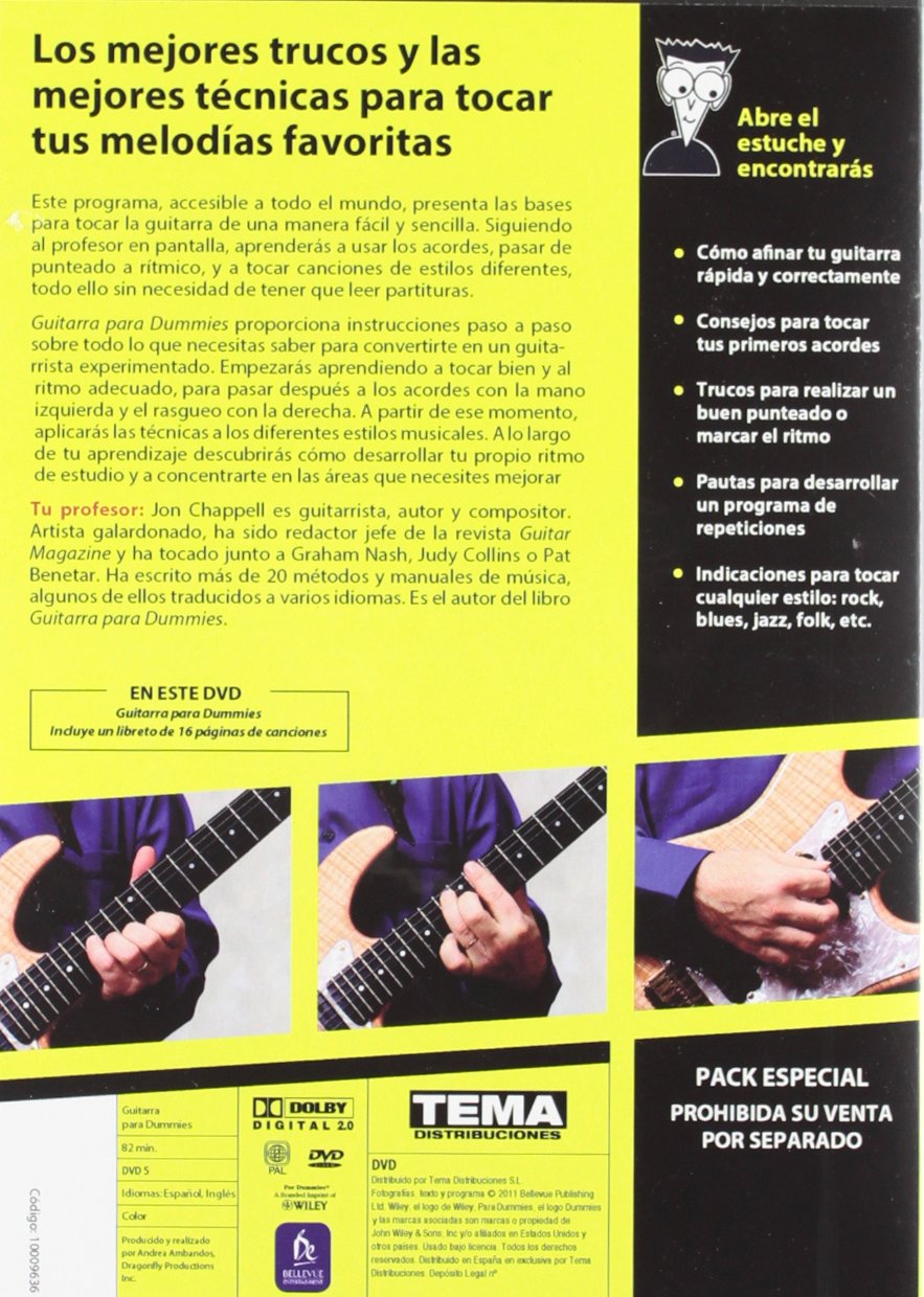 PACK. GUITARRA PARA DUMMIES (LIBRO + DVD): 8432715054559: Amazon.com ...