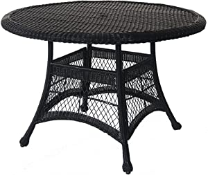 Jeco Wicker Round Dining Table, 44