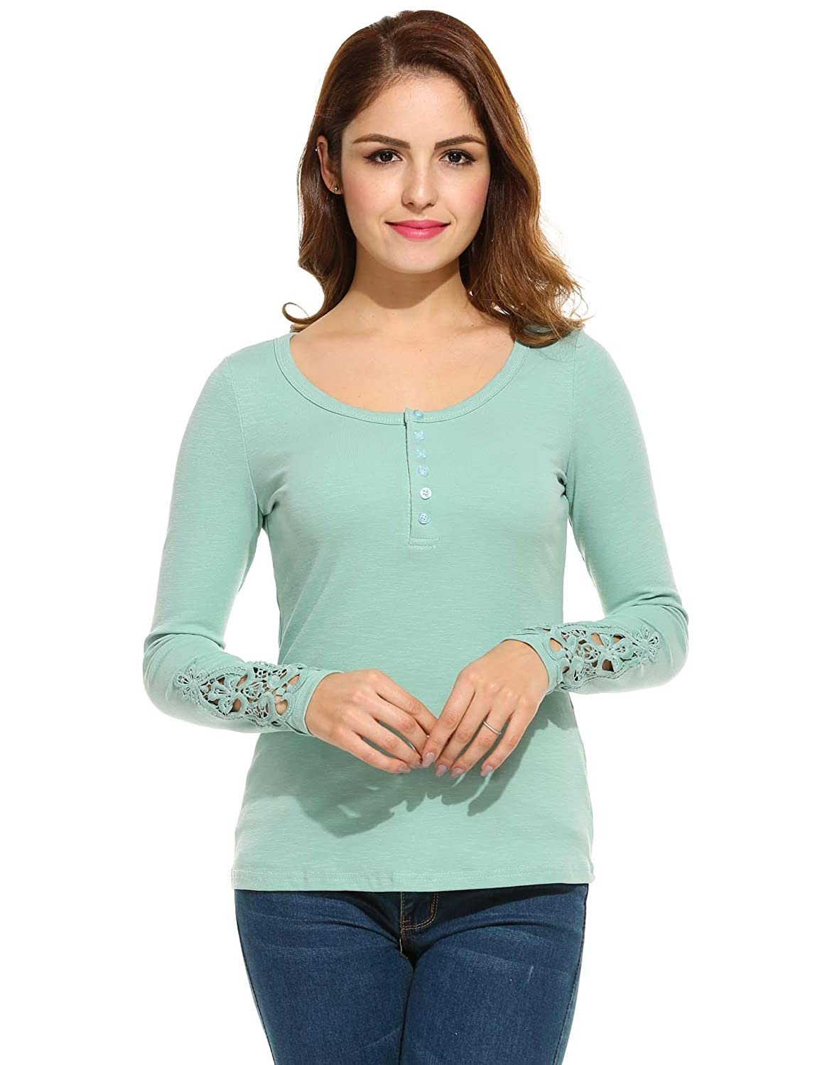 Diaper Casual Teen Girls Tees T Shirts T-Shirt Fitted Long Sleeve Tops Slim  Fit Pullover Jersey T-Shirt Top Henleys at Amazon Women's Clothing store: