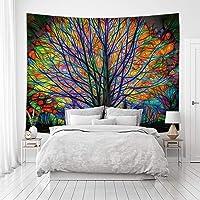 Tapiz de árbol de color psicodélico, decoración artística para artículos del hogar, tapiz de viento, decoración de…