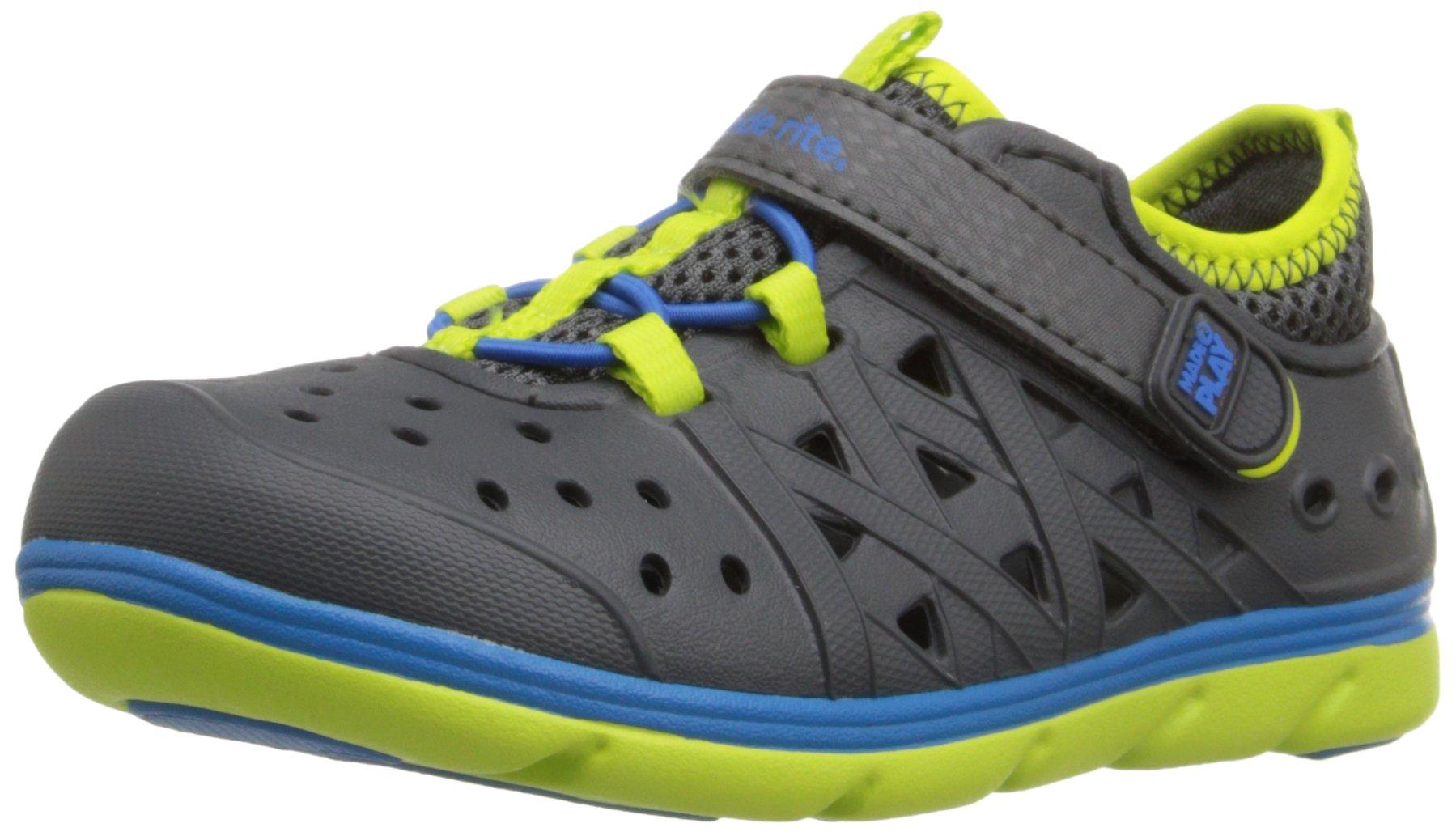 Stride Rite Made 2 Play Phibian Sneaker Sandal Water Shoe (Toddler/Little Kid/Big Kid), Grey,10 M US Toddler