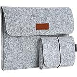 "dodocool 13,3 Zoll Filz Sleeve Hülle Ultrabook Laptop Tasche für 13"" Macbook Air/ Pro Retina 12,9 Zoll iPad Pro, Grau"