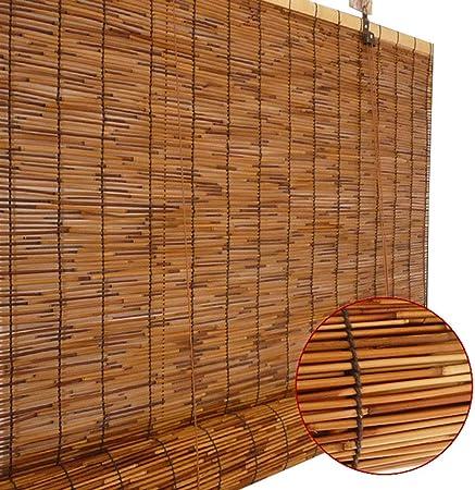 Reed blinds Cortinas de bambú, Cortina de caña Natural Persianas enrollables Romanas, Cortina de protección Solar Anti-UV, para jardín/balcón/Ventana, el tamaño se Puede Personalizar: Amazon.es: Hogar