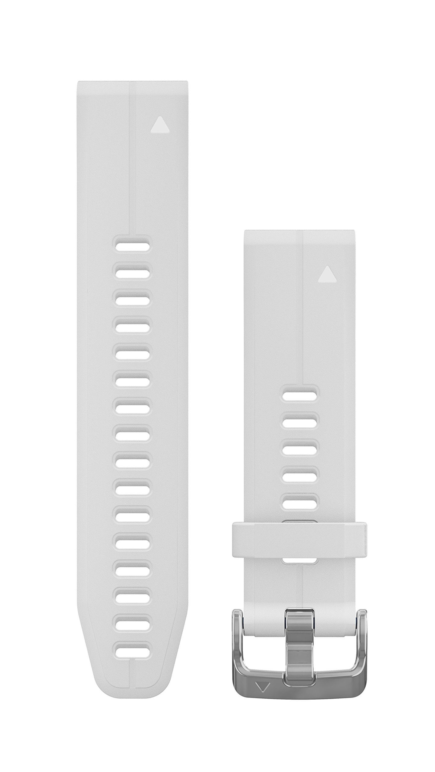 Garmin 010-12739-01 Quickfit 20 Watch Band - Carrara White Silicone - Accessory Band for Fenix 5S Plus/Fenix 5S
