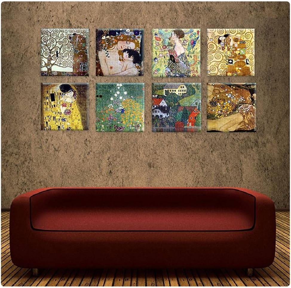 Rolled Set Of 2 Wall art HD Forest Apple Tree by Gustav KlimtCanvas