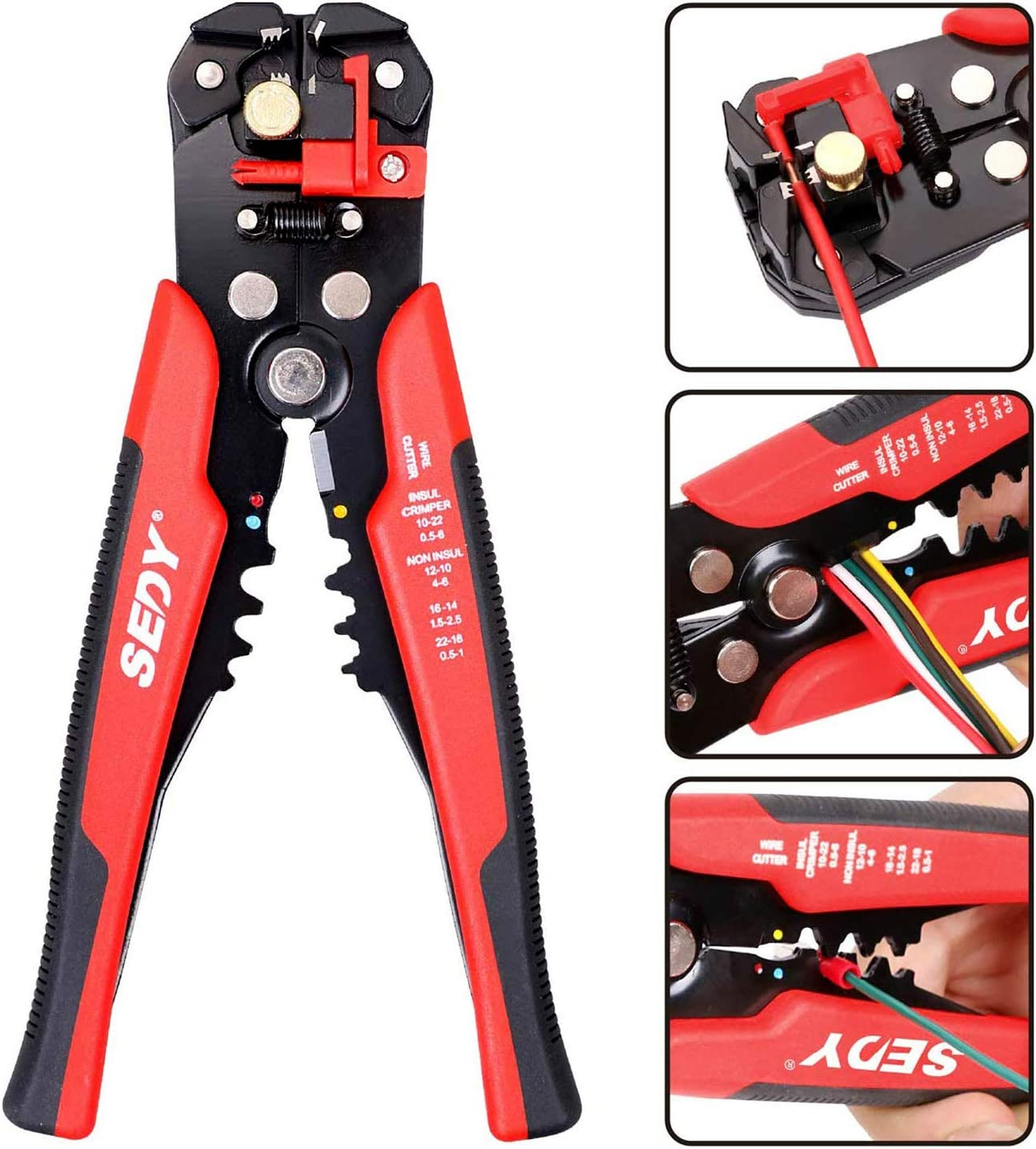 Self Adjusting Wire Cable Stripper Multi-functional Wire Stripper Cutting Tool