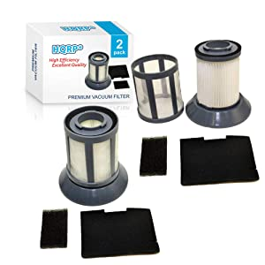 HQRP 2-Pack Dirt Cup Filter Assembly for Bissell 6489/64892 / 64894 Zing Bagless Canister Vacuum Cleaner Plus Coaster