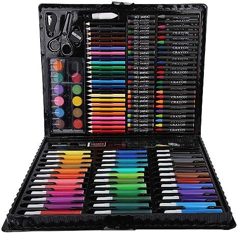 Set de dibujo, 150 piezas de Lapices De Colores para niños, herramientas de dibujo Lápices de dibujo, regalos para niños: Amazon.es: Bebé