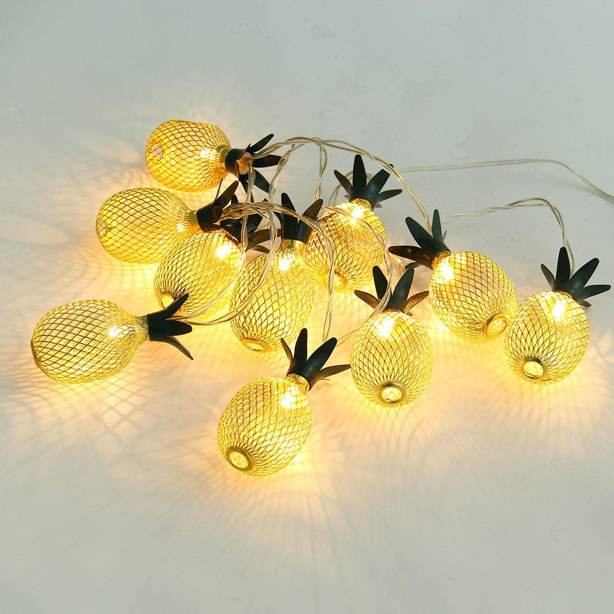 Pineapple String Lights, 200in/5m 40 LED Bulbs WaterproofSolar ChargingLantern String Lights with 2 Light Mode Fairy Lights for Wedding Garden Festival Party Halloween Christmas Indoor & Outdoor by Umiwe (Image #5)