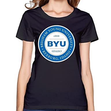 9ab0848ab Amazon.com: Sun-Tshirt Fashion Women's BYU Idaho Logo Tshirt: Clothing