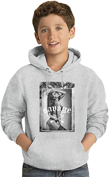 Savage Wild Wolf Gril Los niños Hoodie ligero Lightweight Hoodie For Kids | 80% Cotton-20%Polyester| 14-15 yrs: Amazon.es: Ropa y accesorios