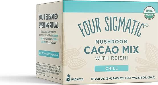 Xoco azul, Seta cacao caliente Mezcla de bebida con Reishi - Cuatro Sigma Alimentos