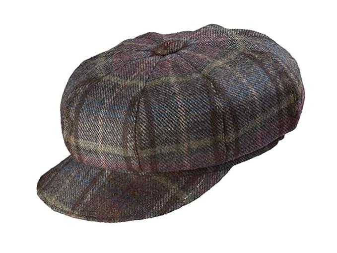 42820f5783c Olney Maggie Ladies Wool Tweed Bakerboy Cap - Brown  Amazon.co.uk ...