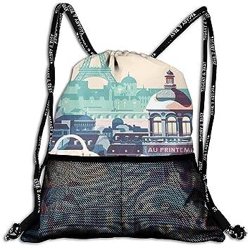 Amazon.com: Hermosa mochila con cordón para pintar arte de ...