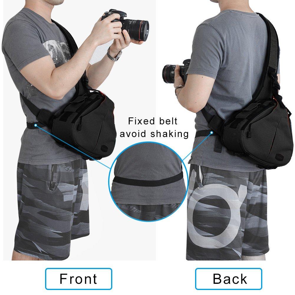 Caden Dslr Camera Sling Bag For 1 2 Lens Tripod Rain Cover Quick Rapid Strap Kamera Canon Nikon Sony Pentax Electronics