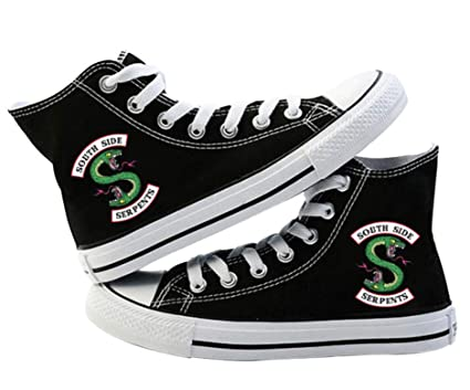 Riverdale South Side Serpents Shoes Canvas Sneakers Fashion Hiphop Style Shoes High Shoes Cartoon Jughead Jones For Gift For Outdoor 8 5 Us 1
