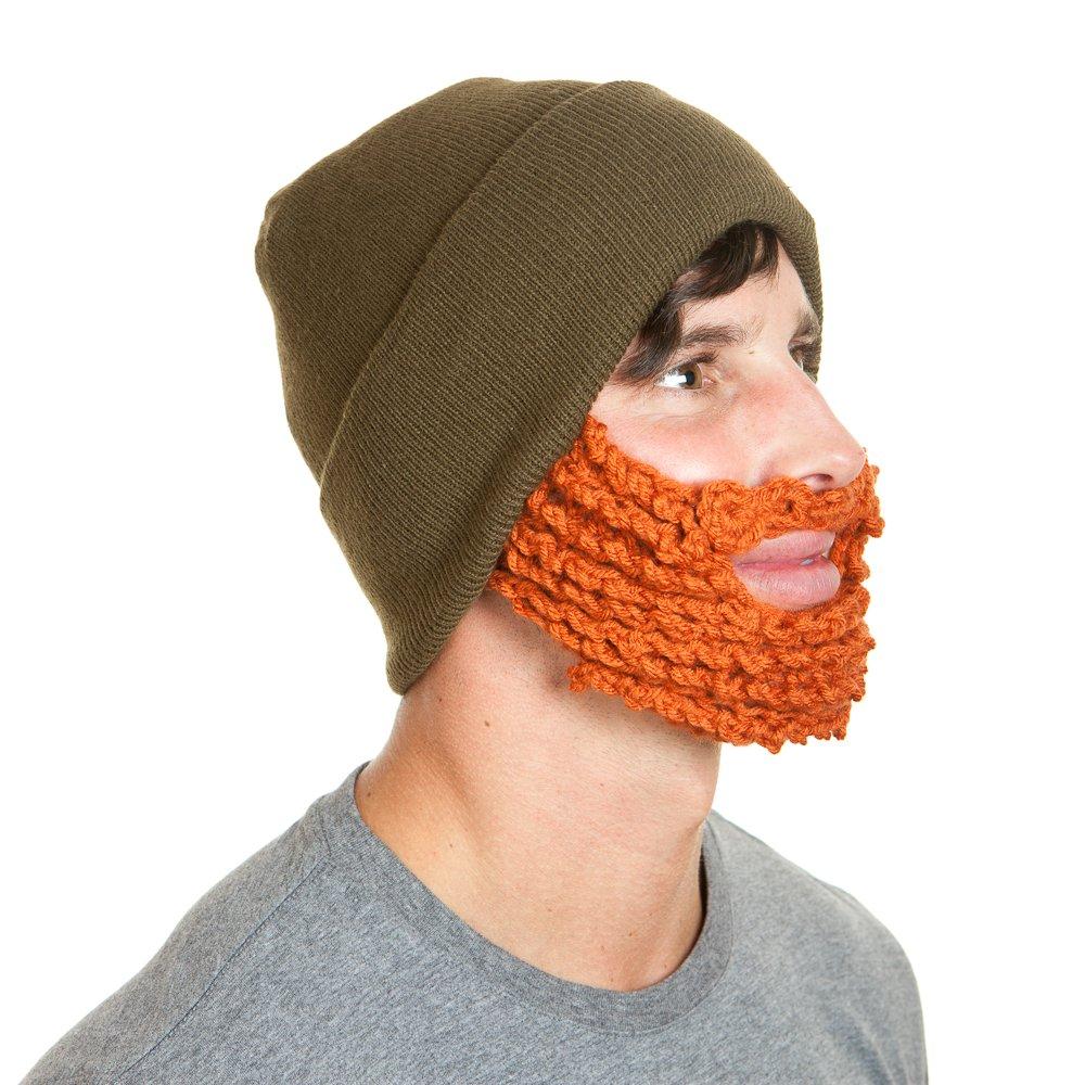 6c41dfc08d7 Amazon.com  The Original Beard Beanie Lumberjack Style-Olive Ginger  Sports    Outdoors