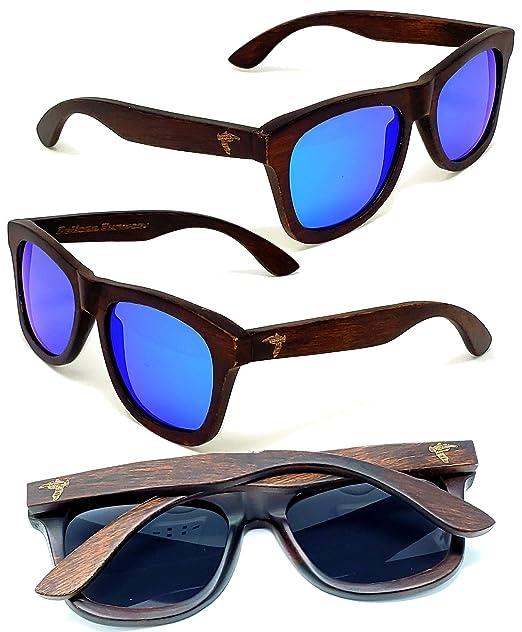 Amazon.com: Gafas de sol de madera, lentes polarizadas ...