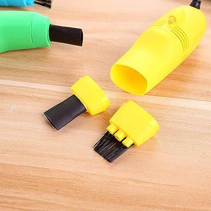 Mini PC Aspirador USB Keyboard Cleaner PC Laptop Brush Kit de limpieza de polvo Aspirador Computer Clean Tools/Yellow: Amazon.es: Oficina y papelería