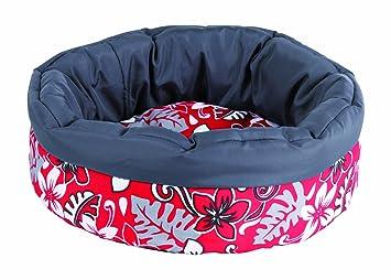 Trixie Cama de Flores de Peluche, 35 cm, Color Rojo/Gris: Amazon.es: Productos para mascotas