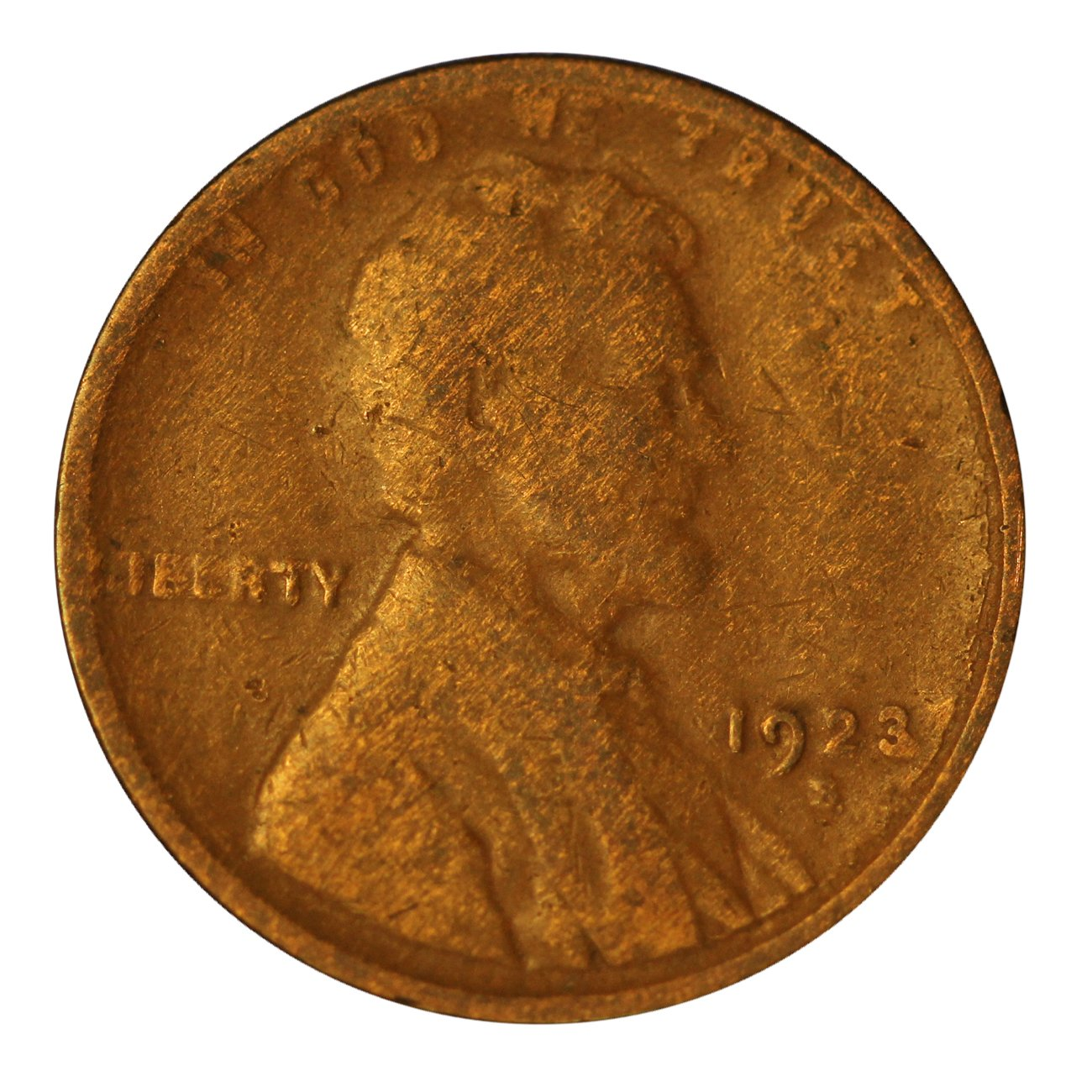 1923 S Wheat Penny About Good