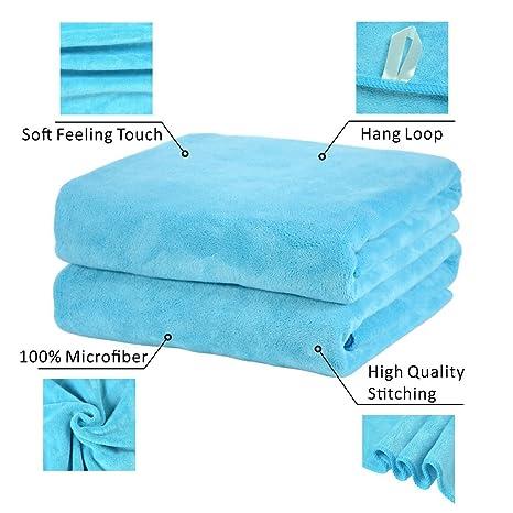 Sin marca suave microfibra toalla de baño, toalla, toalla de deporte de fitness,