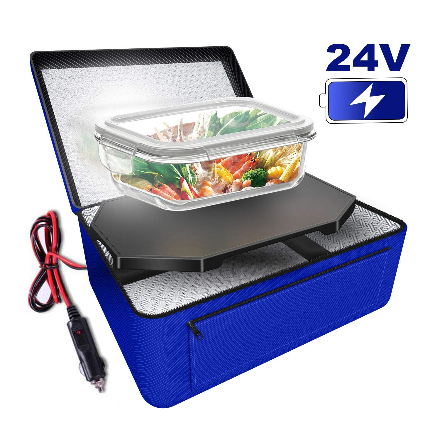 Triangle Power Personal Portable Oven, Electric Slow Cooker For Food,Mini Oven For Meals Reheat,Food Warmer with Lunch Bag For Car(24V) by Triangle Power