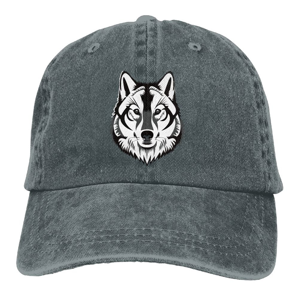 Poly-Wolf Casual Trend Printing Cowboy Hat Fashion Baseball Cap For Men and Women Black