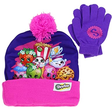 Amazon.com: Shopkins Girls Beanie Hat and Gloves Set (Little Kid ...