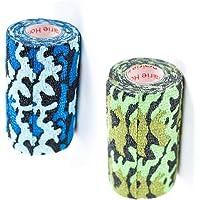 Vet Wrap Tape Self Adhesive Cohesive Bandage, Camo Camouflage Colors Dog Cat Horse Self Stick Adherent Bandaging Tape 3…