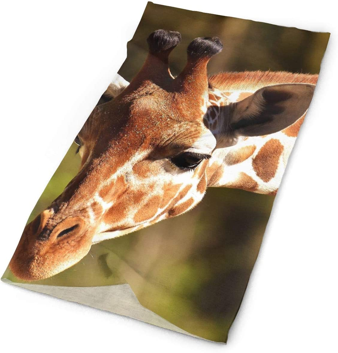Giraffe Unisex Fashion Quick-Drying Microfiber Headdress Outdoor Magic Scarf Neck Neck Scarf Hooded Scarf Super Soft Handle