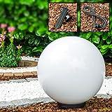 Leuchtkugel Miau für den Garten mit 50cm Durchmesser - Kugelleuchte - Kugellampe Garten mit 5 Meter Zuleitung - Kugelleuchten außen in Weiß - Wetterfest mit E27 Fassung