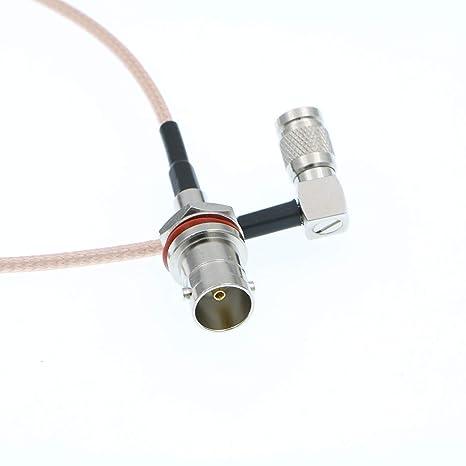 Alvins Cables DIN 1.0/2.3 Cable de ángulo Recto a BNC Hembra HD SDI 75