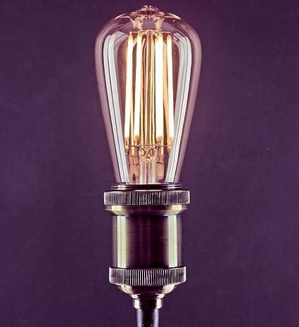 PJS 5X E26/E27 Bombillas LED de filamento, 16 W ST64 SES, equivalente